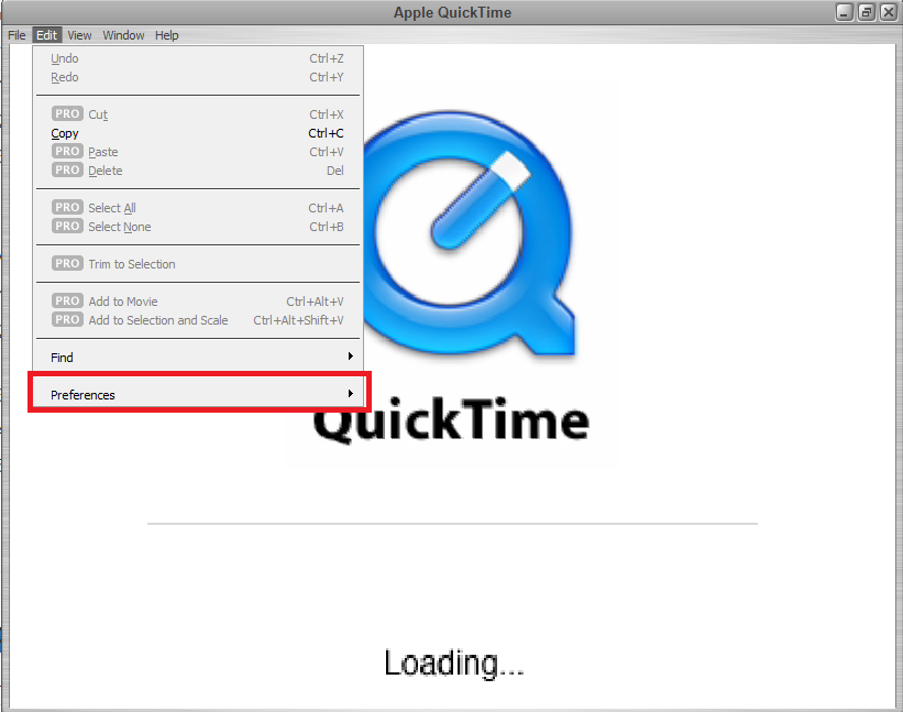 apple quicktime preferences