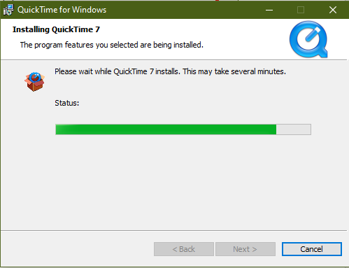 quicktime for windows installation process