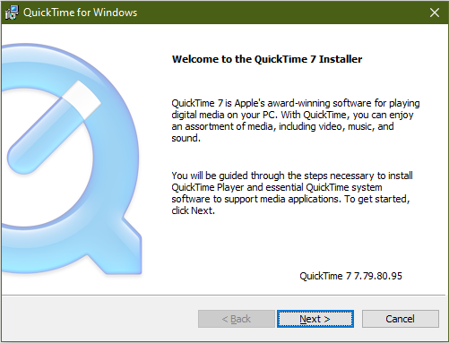 quicktime for windows installation