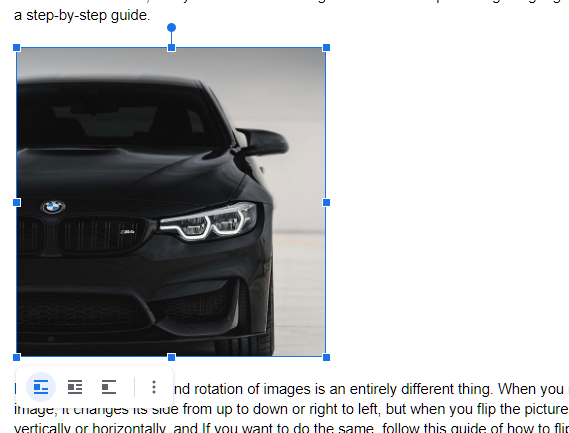 select image in google doc