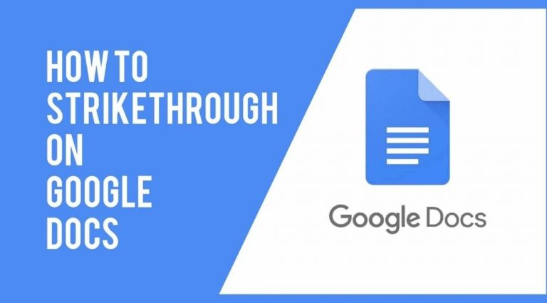 Strikethrough On Google Docs