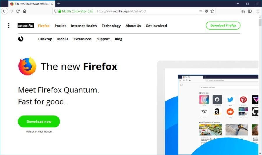 mozila firefox fastest web browser for windows