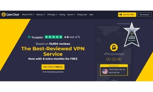 CyberGhost vpn for streaming