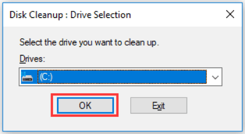 Disk Cleanup windows