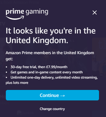 click on try prime