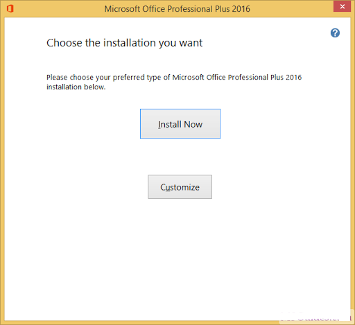 microsoft office 2016 installation