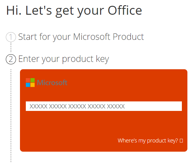 ms office 2016 product key