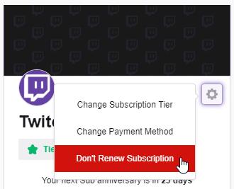 twitch auto renew cancel