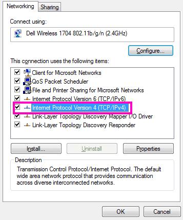 Internet Protocol Version 4 TCP IPv4