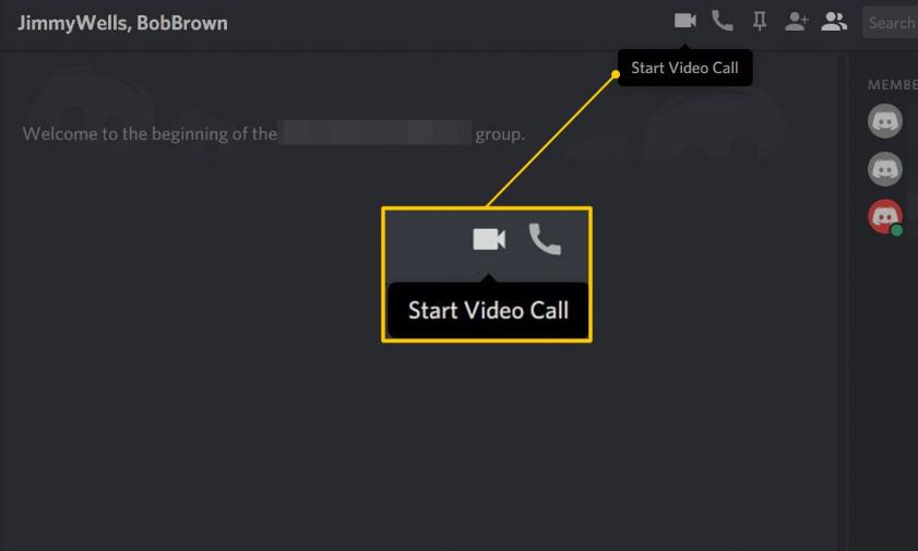 discord video calling option