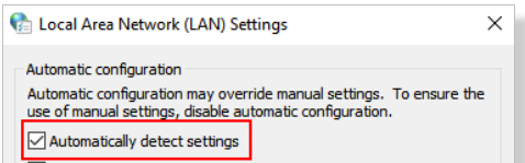 local area network setting automatic