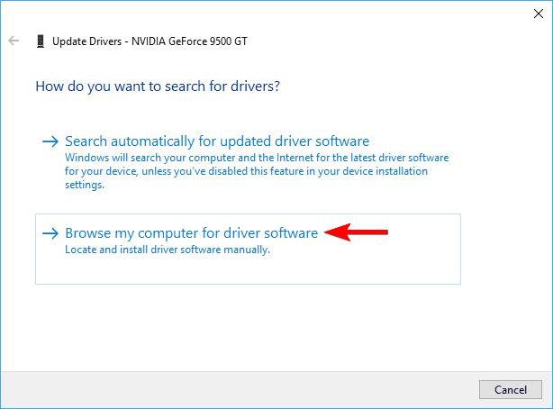 update drivers nvidia geforce 9500 gt