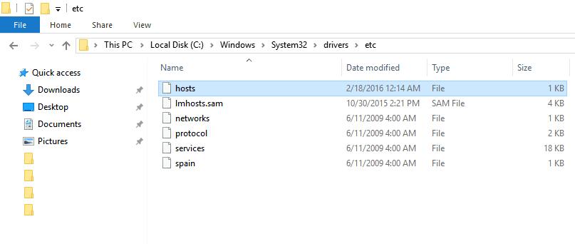 host file windows
