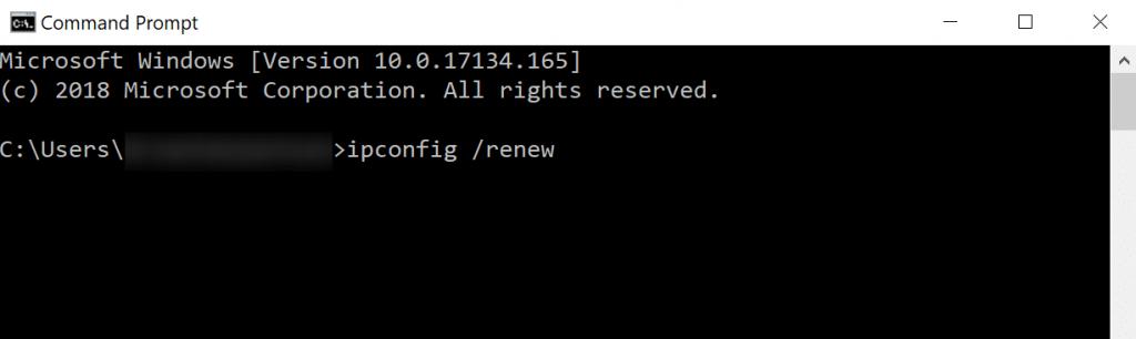 ip renew configuration command prompt