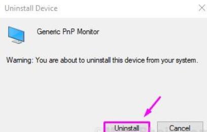 uninstall generic pnp monitor successfully