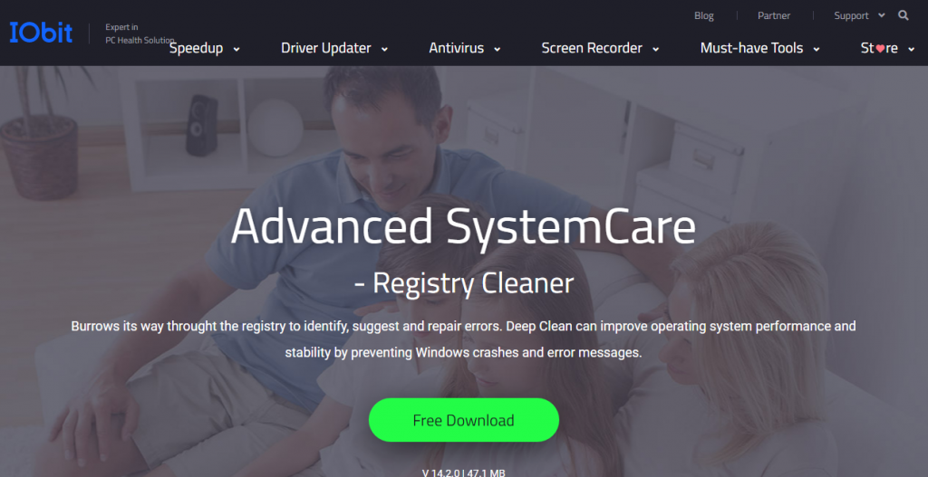 advanced systemcare registry cleaner