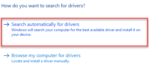 automatically for updated driver