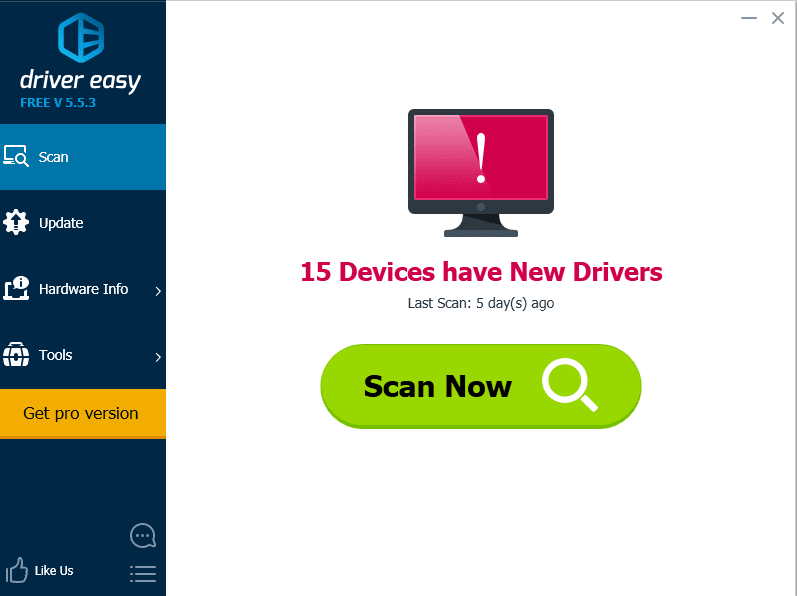 driver easy scan