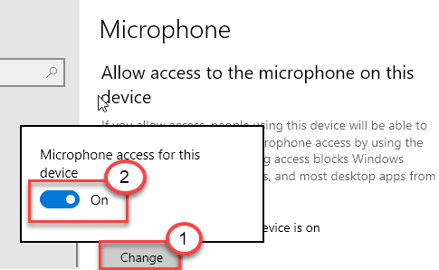 microphone access to this device