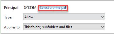 select principal