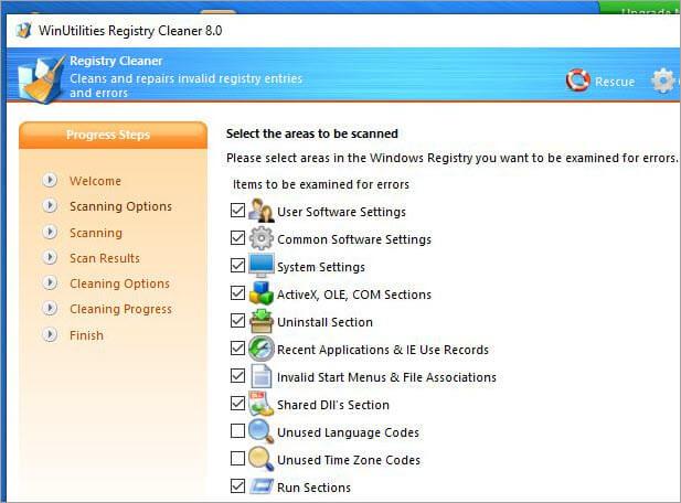 winutilities registry cleaner